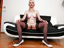 Lovely mature MILF playing herself