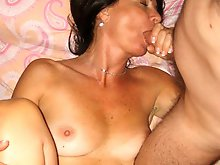 Unbelievable mature lady playing with her boobs