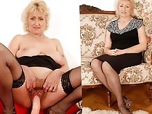 Older prostitutes in provocative bra
