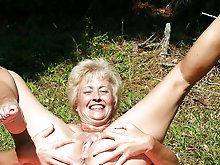 Posh gilfs posing nude on photo