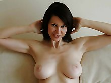 German mature strumpet playing with her boobs