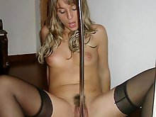 Old MILF with unshaved vagina