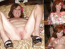 Lewd mature lasses playing with their jugs